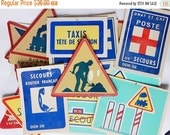 CLOSING 50% french road signs vintage road signs