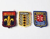 vintage french patches souvenir badges