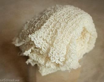 Ivory Cream Cheescloth, Newborn Props, Gauze Wrap, Natural Props, Organic Props, Newborn Cocoon Wrap, Baby Prop, Newborn Props, RTS, Organic