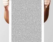 Lots, lots, lots of quotes by Oscar Wilde, typographic poster Print. Size A3