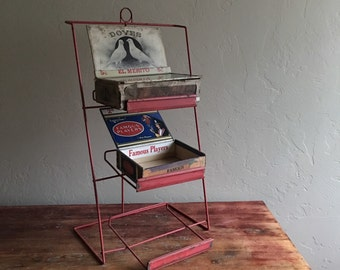 Red Wire Rack Candy Cigar Box Holder General Store Shopkeeping