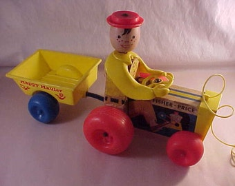 1967 Fisher Price Toys #732 Happy Hauler Tractor Pull Toy