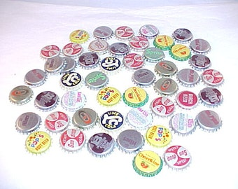 Lot of 50 Assorted Unused Soda Bottle Caps