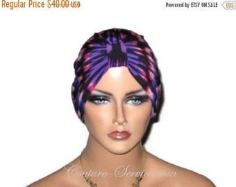 Anniversary Special Purple Chemo Turban, Fuchsia Chemo Turban, Abstract Chemo Turban, Fashionable Chemo Turban, Chemo Turbin, Cancer, Women'