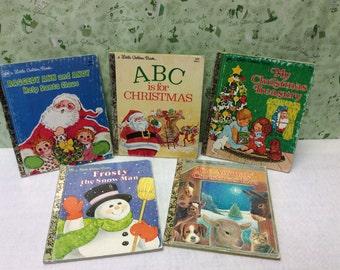 5 Christmas Little Golden Books