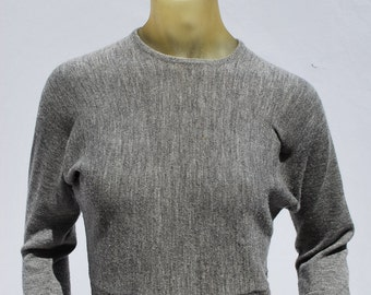 Vintage 50's JAEGER all wool sweater pin up batwing s34 short cropped sexy skin tight by thekaliman