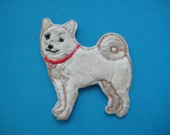 Iron-on Patch Dog Akita 1.9 inch