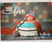 Birth announcement, baby boy announcement, baby girl announcement, baby announcement, modern birth announcement, printable (True Love)