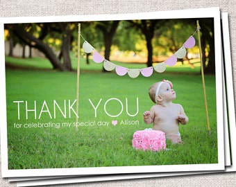 Thank You Card, Photo Thank You Card, Birthday Thank You Card, Printable Thank You Card, Kids Thank You Card, Modern Thank You Card