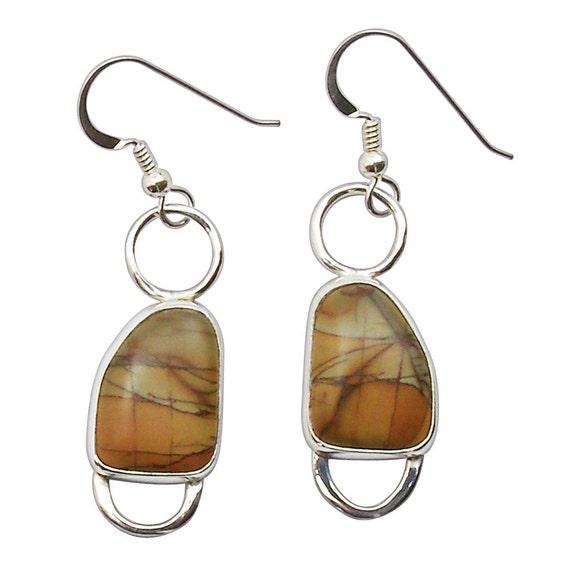Cherry Creek Jasper Dangle Earrings Set in Sterling Silver  eccke2708