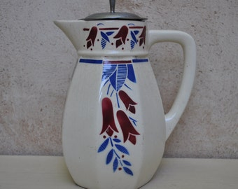 French Art Nouveau Pitcher Coffee Pot Water Jug 1920s