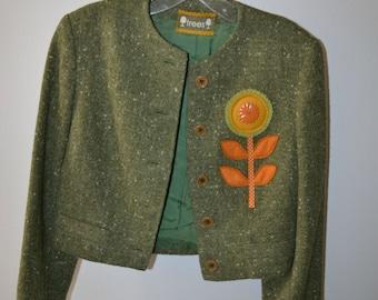 Gorgeous Up-cycled Vintage Wool Jacket