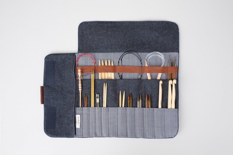 Knitting Needle Organizer Pattern : Knitting needle case Circular needle case Needle Organizer