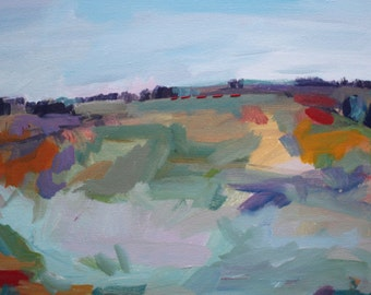 Colors in the Field: Original Acrylic Landscape