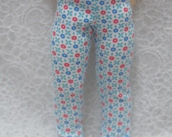 Super Dollfie Yo SD Littlefee Red & Blue Pattern Leggings