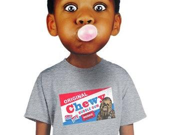 chewbacca shirt funny star wars shirt bazooka gum t-shirt parody fanboy tshirt jedi tee cool edgy geeky tee boys s m l xl