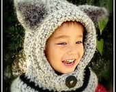 Wolf Hooded Cowl for Babies and Children