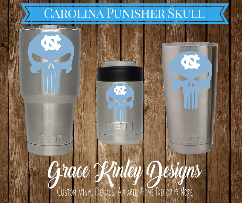 Yeti Cup Decal Unc Punisher Skull For Cups Coolers
