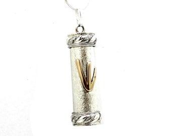 Amazing handmade  925 Sterling Silver Mezuzah Pendant