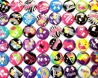 "Color Guard 1"" Buttons SET 2, Color Guard, Winter Guard, Color Guard Pins, Color Guard Buttons, Color Guard Faltbacks, Color Guard Gifts"