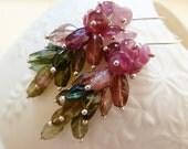 LAST PAIR Watermelon Tourmaline silver earrings.October Birthstone earrings. Drop earrings. Gemstone cascade . Gift for her. Gifts for Libra