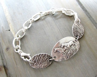 Open Spaces No. 2, Original and Exclusive Personalized Horse Jewelry by SilverWishes, Fine and Sterling Silver