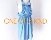 SAMPLE SALE OOAK Pinafore Chambray Dress