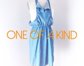 SAMPLE SALE OOAK Pinafore Chambray Dress