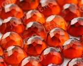 Hessonite Garnet Rose Cut Cabochon 6mm Round - 1 cab