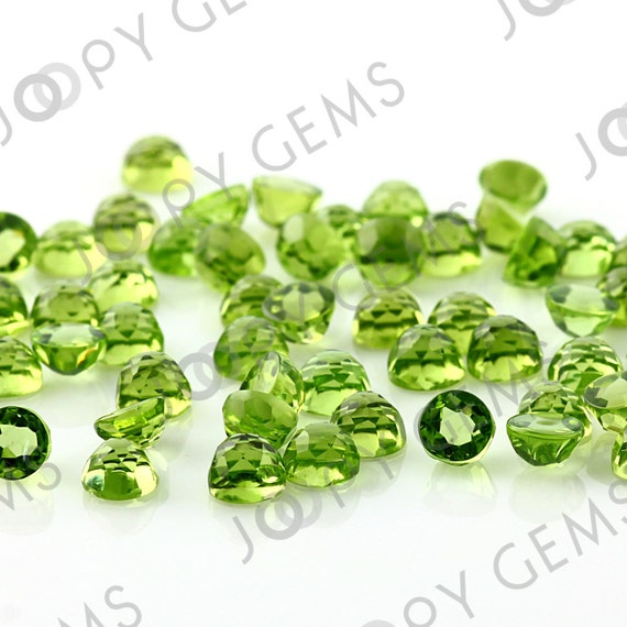 Peridot Rose Cut Cabochon 5mm Round - 1 cab, RCPERDR5