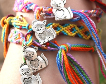 L.A. Raised-Cat friendship bracelet-all proceeds donated.