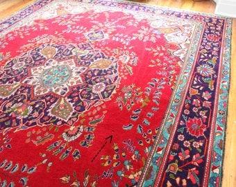 12' x 9' Heriz Rug - Antique Rug - Persian Rug - Wool - Gorgeous Colors - xl vintage rug