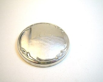 Lunt Sterling Silver Round Hand Mirror - For Purse Desk Boudoir