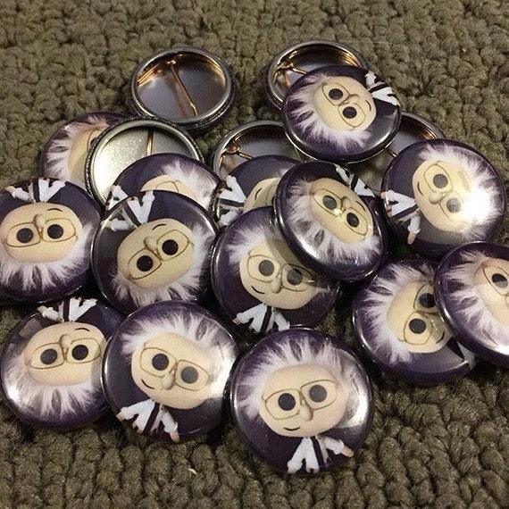 Lil Bernie - Pinback Button, Magnet, Zipper Pull, Mirror, Bottle Opener, or Ornament