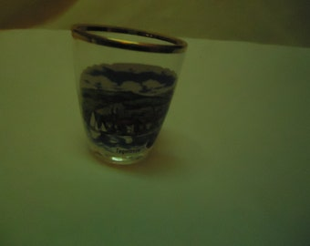 Vintage Tegernsee German Shot Glass, collectable