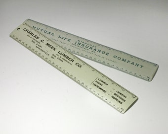 Vintage Metal Advertising Rulers. Metal Rulers - circa 1950's