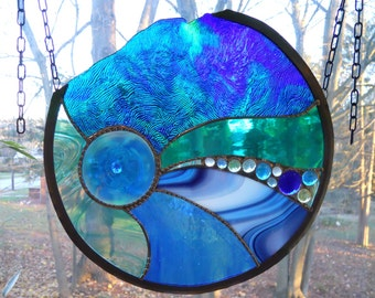 Stained Glass Swirl Panel