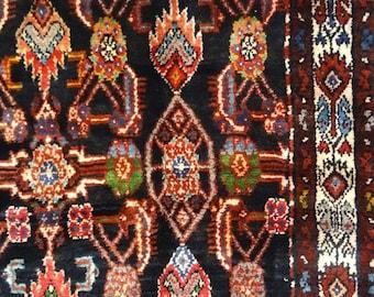 antique kurdish persian senah rug