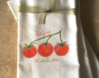 Tomatoes Kitchen Towel Garden State New Jersey State Option Cotton