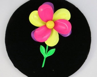 1970s FLOWER POWER Floral Brooch ~Bright Neon Colors~ Spring Summer ~ Wedding Bouquet