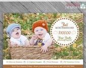 INSTANT DOWNLOAD - Enchanted Fall Marketing Board 4- custom 5x7 photo template
