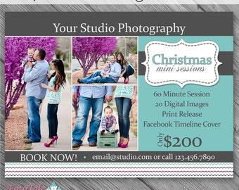 INSTANT Download - Rejoice Christmas Marketing Board 2- custom 5x7 photo template