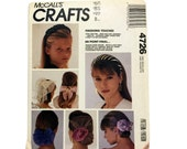 McCall's Crafts 4726, Hair Accessories, Hair Bow Pattern, Covered Hairband Pattern, DIY Hair Bows, Giant Hair Flower, Sewing Pattern