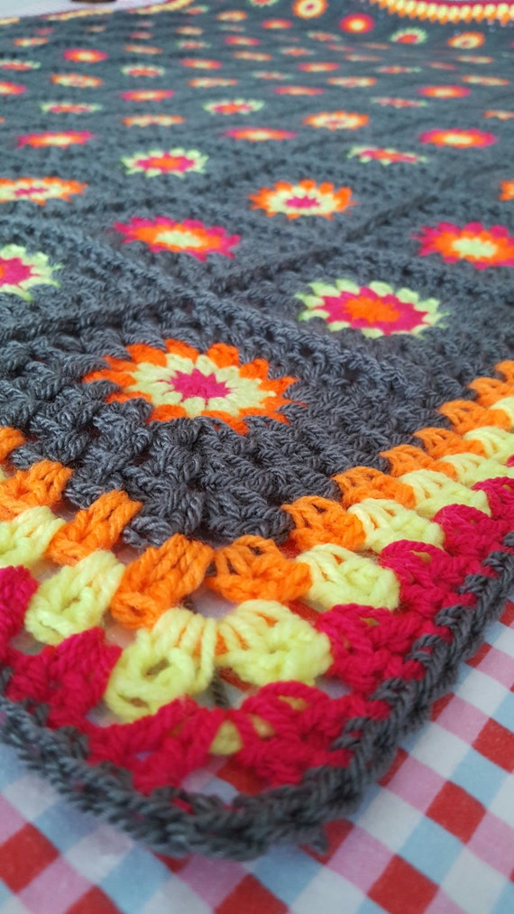 IN STOCK Granny Squares Blanket SALE Retro Afghan