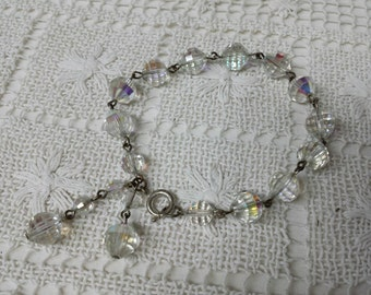 Czech Glass Glimmering beaded Bracelet Vintage
