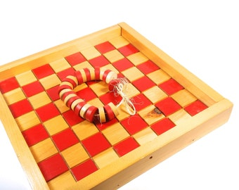 Homemade Solid Wood Checker Board