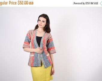 70% Off FINAL SALE - wrap sweater - vintage 1970s wrap cardigan - The Running Errands Cardigan  - 7015