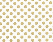 Fitted Crib Sheet - Metallic Gold Dots / Metallic Baby Bedding / Changing Pad Covers / Mini Sheets / Gold Dot Crib Sheet / Etsy Crib Sheets