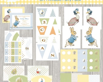 INSTANT DOWNLOAD, Peter Rabbit, Easter, Printable, Baby Shower, Birthday Party, Digital Invitation, DIY