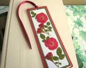 Custom Personalized Pressed Flower Laminated Bookmark